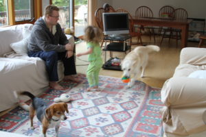 Little Star and Lhotse' playtime with Sam